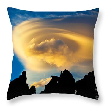 Sierra Wave Cloud Throw Pillow