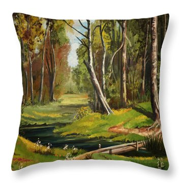 Silence Of The Forest Throw Pillow