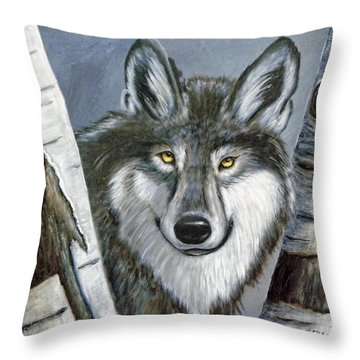 Silent Watcher Throw Pillow by Kenny Francis