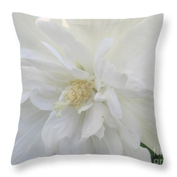 Throw Pillow featuring the photograph Simply White by Tina M Wenger