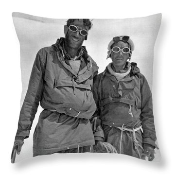 Sir Edmund Hillary Throw Pillow by Granger