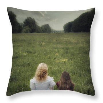 Sisters Throw Pillow by Joana Kruse