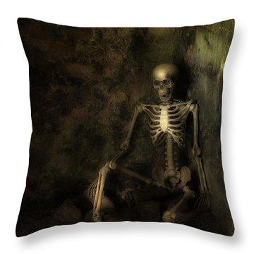 Skeleton Throw Pillows