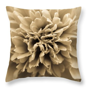 Skunk Flower Orange Throw Pillow
