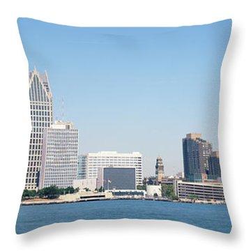 Skyline Detroit Mi Usa Throw Pillow