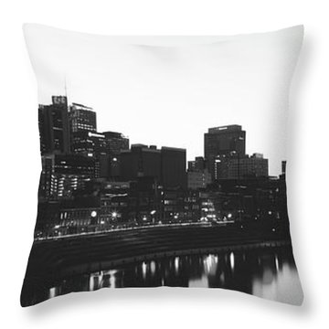 Skylines At Dusk, Nashville, Tennessee Throw Pillow