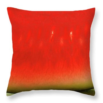 Slice Of Watermelon (detail) Throw Pillow