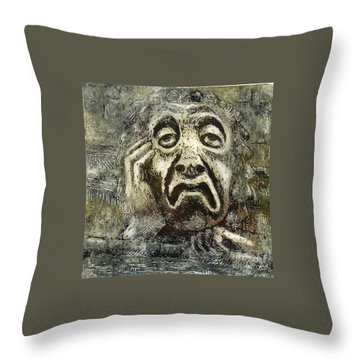Sloth Throw Pillow by Suzette Broad
