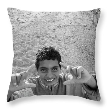 Smile Please Throw Pillow