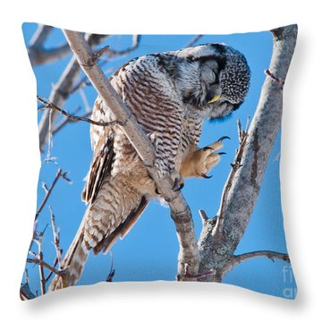 Smiling And Waving Throw Pillow by Cheryl Baxter