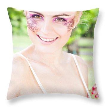 Smiling Ballerina Throw Pillow