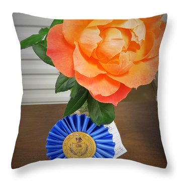 Smiling Rose Throw Pillow by Jeanette Oberholtzer