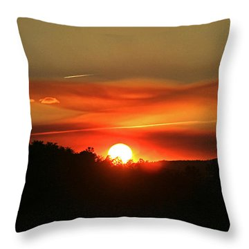 Smokin' Payson Sunset Throw Pillow