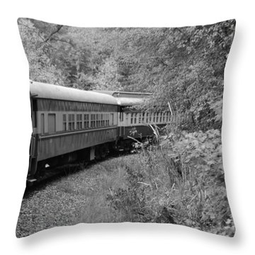 Throw Pillow featuring the photograph Smoky Mountian Escape by Cathy Shiflett
