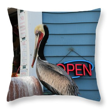 Throw Pillow featuring the photograph Snack Time  by Christy Pooschke