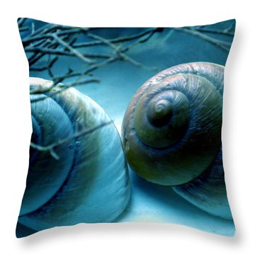 Snail Joy  Throw Pillow by Colette V Hera  Guggenheim