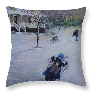 Snow Days Throw Pillow