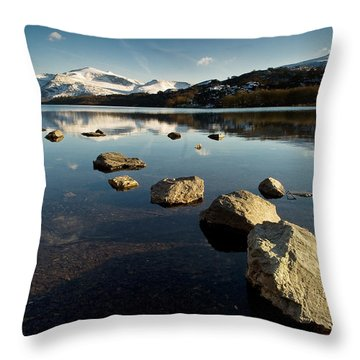 Snowdon And Llyn Padarn Throw Pillow