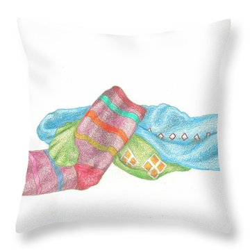 Socks 1 Throw Pillow