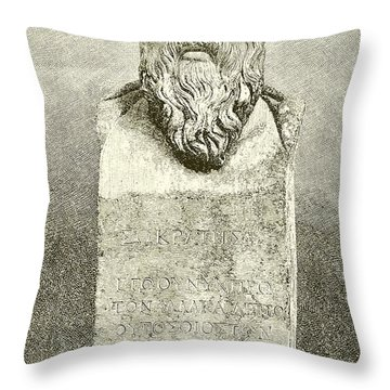 Socrates Throw Pillow by English School