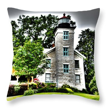 Sodus Lighthouse Throw Pillow
