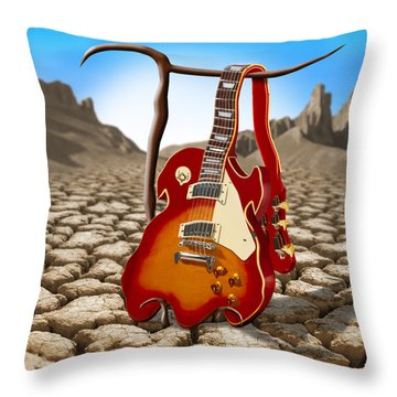 Soft Guitar II Throw Pillow