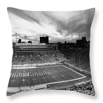 Soldier Field Football, Chicago Throw Pillow by Panoramic Images