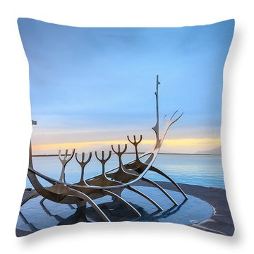 Solfar Sun Voyager Throw Pillow by Alexey Stiop