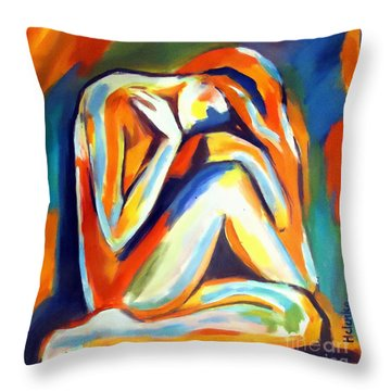 Throw Pillow featuring the painting Solitude by Helena Wierzbicki
