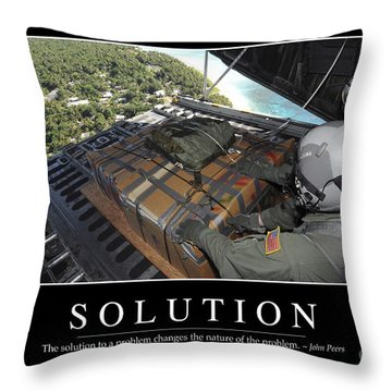 Solution Inspirational Quote Throw Pillow by Stocktrek Images