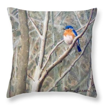 Something Blue Throw Pillow