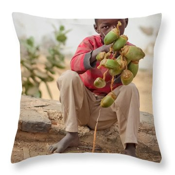 Throw Pillow featuring the photograph Somewhere Else On Goree Island  by Stwayne Keubrick
