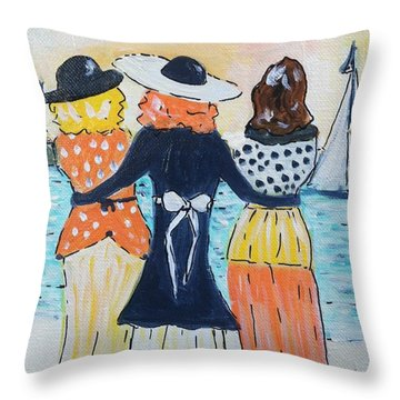 Soul Sisters At Sunset Throw Pillow