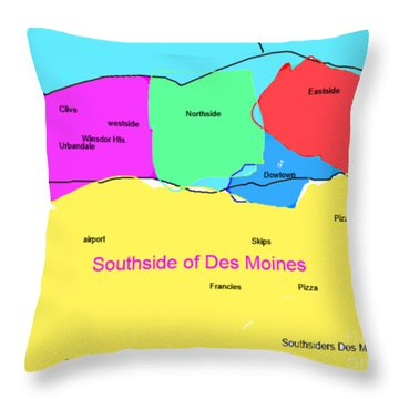 Southsiders View Of Des Moines Throw Pillow