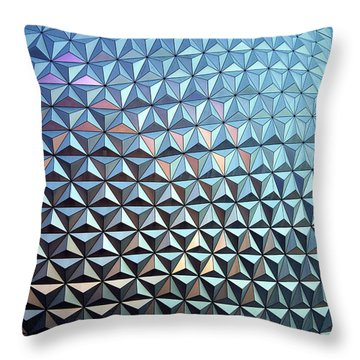 Throw Pillow featuring the photograph Spaceship Earth by Cora Wandel