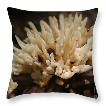 Spindle Mushroom Throw Pillow by Susan Leavines