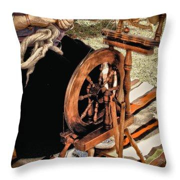 Spinning Wool Throw Pillow