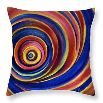 Spirals Throw Pillow by Art by Kar