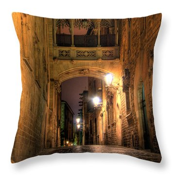 Throw Pillow featuring the photograph Spirit Of Gaudi by Erhan OZBIYIK