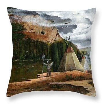Spiritual Home Throw Pillow