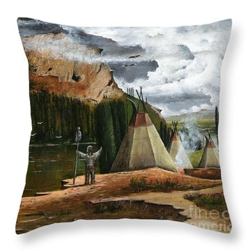 Spiritual Home Throw Pillow