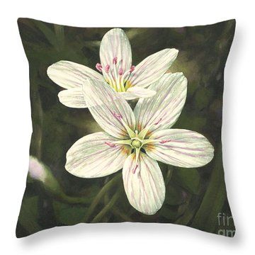 Spring Beauty Throw Pillow