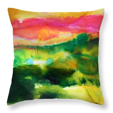Emerald City Throw Pillow by Tara Moorman