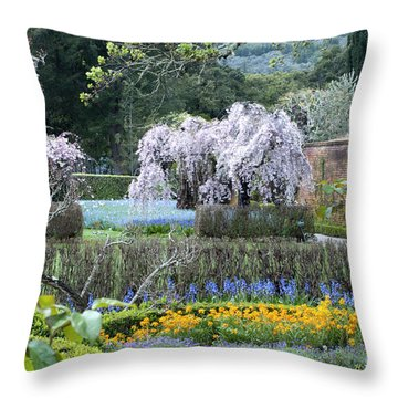 Spring Garden Throw Pillow by Haleh Mahbod