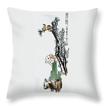 Spring Melody Throw Pillow by Yufeng Wang