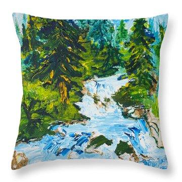Spring Run-off Throw Pillow