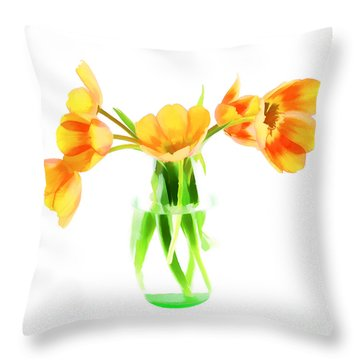 Spring Tulips Throw Pillow by Darren Fisher