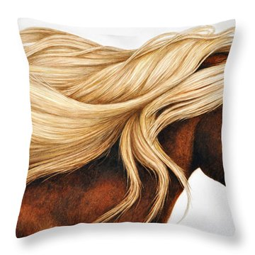 Spun Gold Throw Pillow