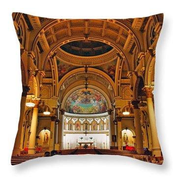 St. Leonard's Church....boston Throw Pillow by Joann Vitali