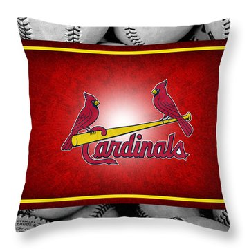 St Louis Cardinals Throw Pillow